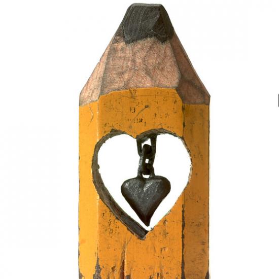 Heart in pencil