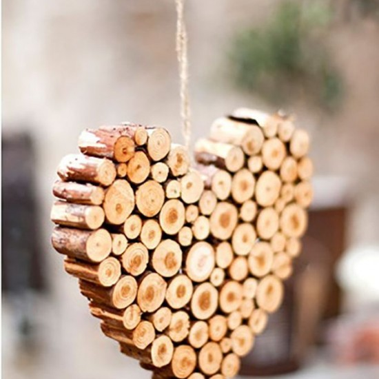 Wood Heart Ornament